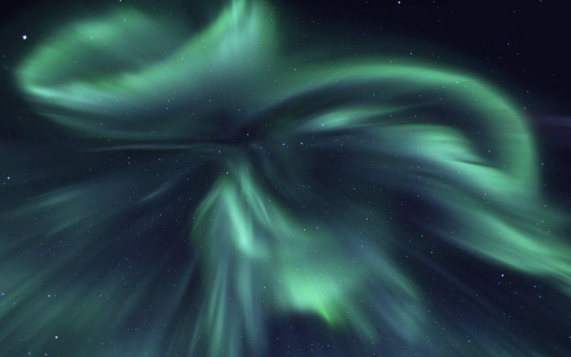 Aurora Borealis Night Starry Sky Sky Stars northern lights solar sun space wallpaper