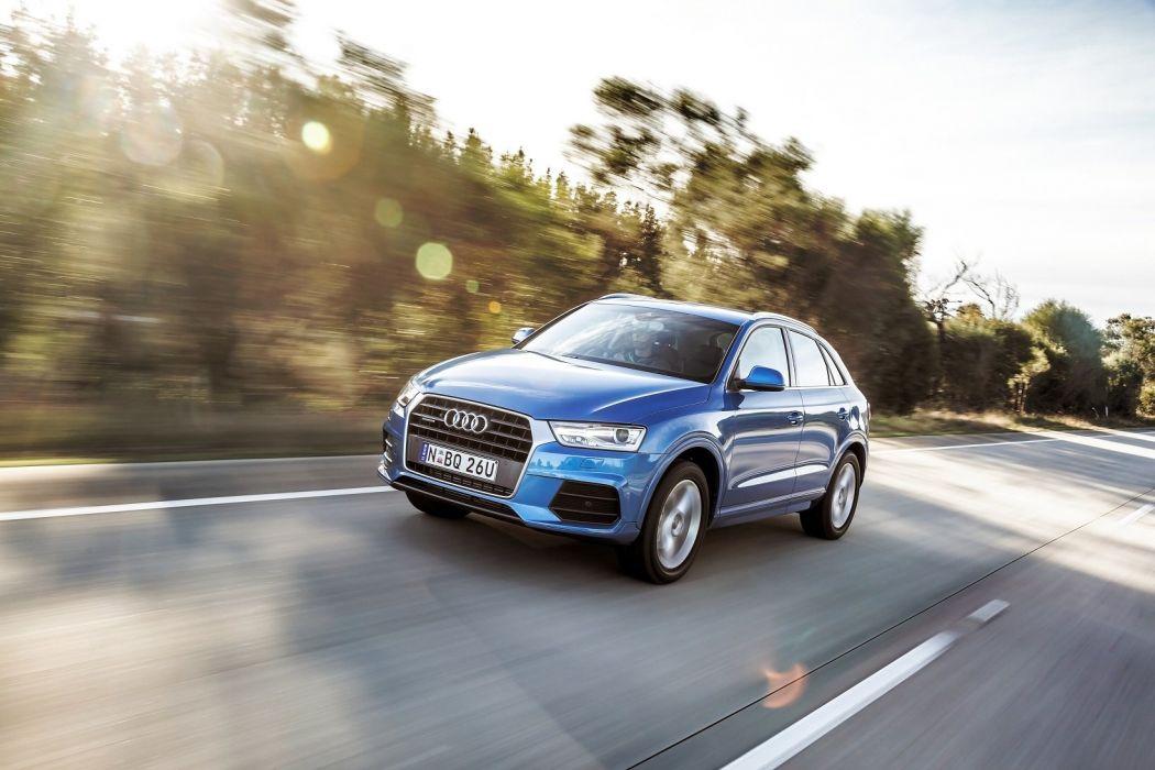 Audi-Q3 2-litres TFSI quattro AU-spec cars suv blue 2015 wallpaper