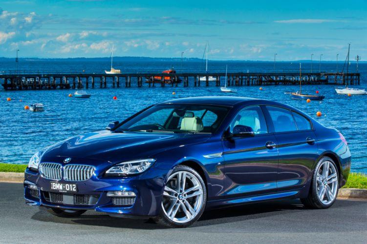 BMW 650i Gran Coupe M-Sport AU-spec F06 cars blue 2015 wallpaper