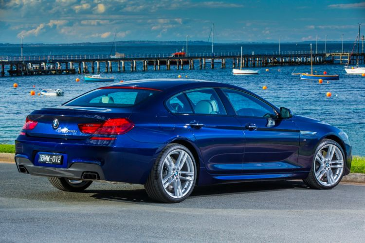 BMW 650i Gran Coupe M-Sport AU-spec F06 cars blue 2015 wallpaper