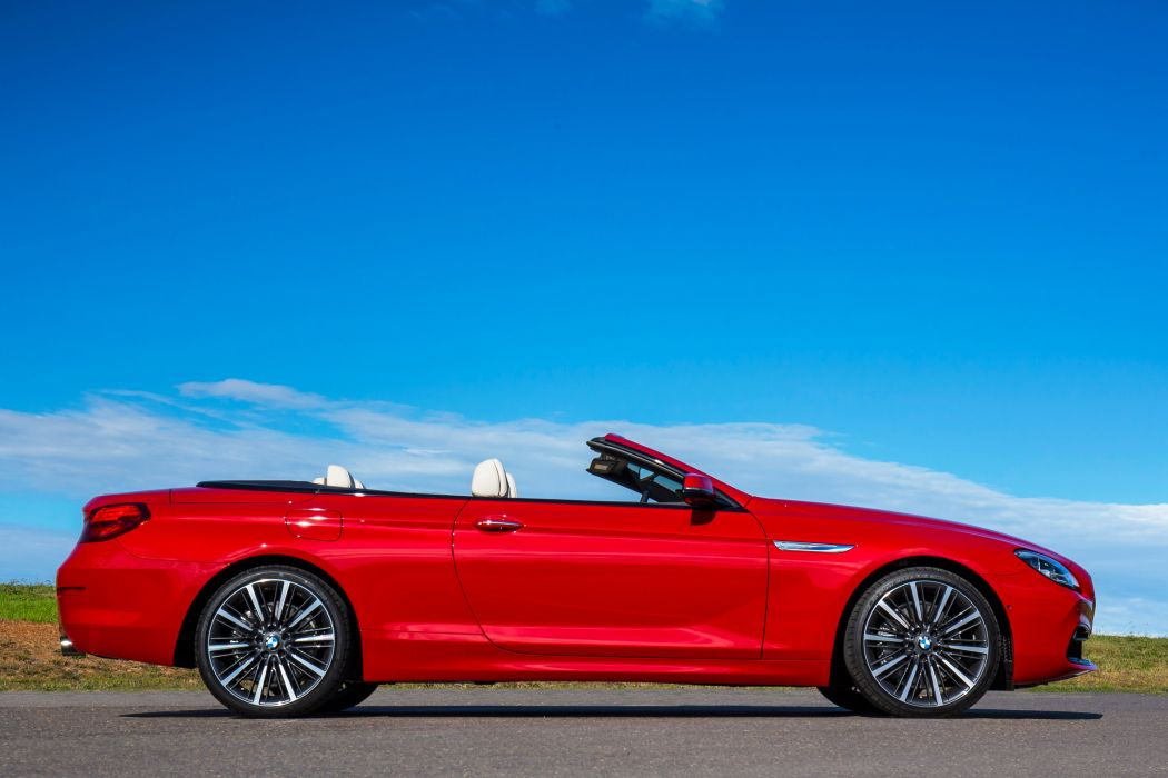 BMW 640i Cabrio convertible red AU-spec cars 2015 wallpaper