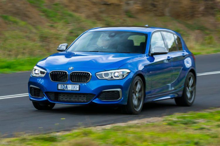 BMW M135i 5-door AU-spec F20 cars blue 2015 wallpaper