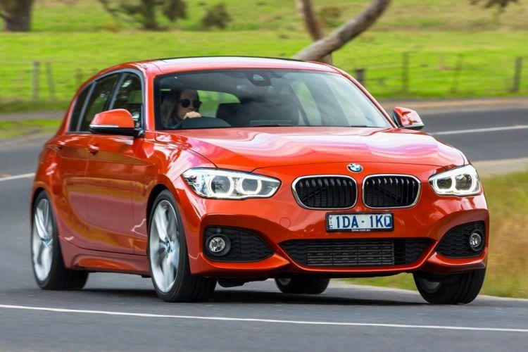 BMW M125i 5-door AU-spec F20 cars orange 2015 wallpaper