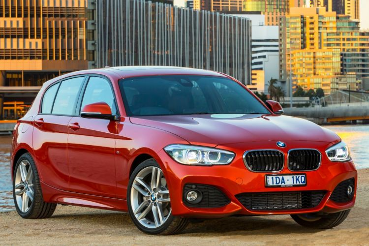 BMW M125i 5-door AU-spec F20 cars orange 2015 wallpaper