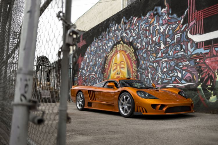 Saleen-S7 Twin Turbo coupe supercars cars orange 2005 wallpaper
