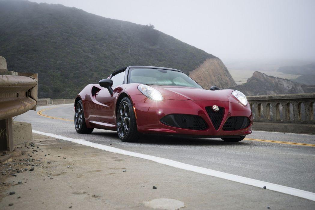 2015 alfa cars Romeo-4C spider US-spec wallpaper