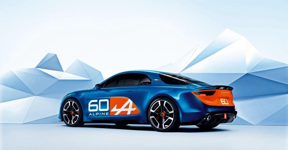 Renault Alpine Celebration Concept cars blue 2015 wallpaper
