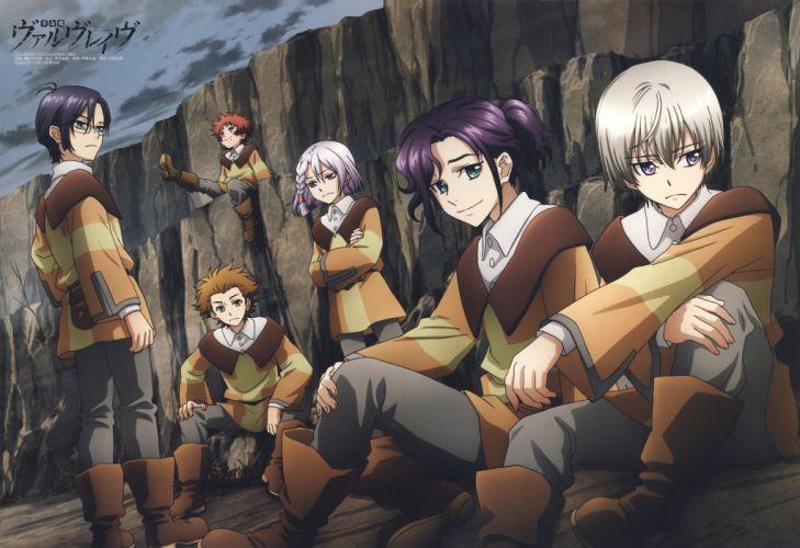 Kakumeiki Valvrave Series X-eins Character H-neun Character A-drei anime group wallpaper