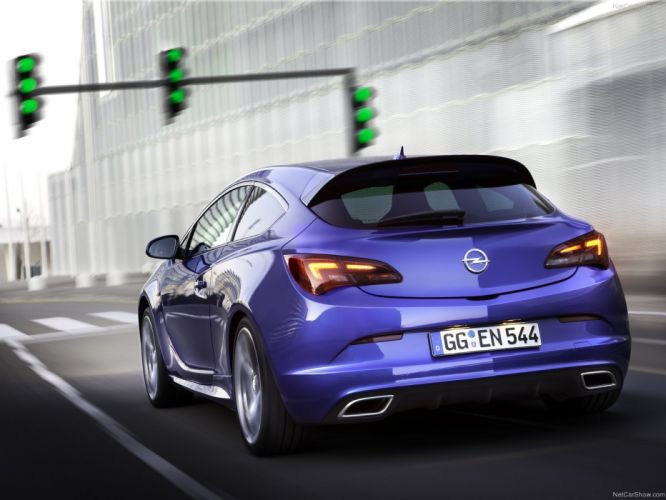 Opel Astra OPC cars coupe blue 2013 wallpaper