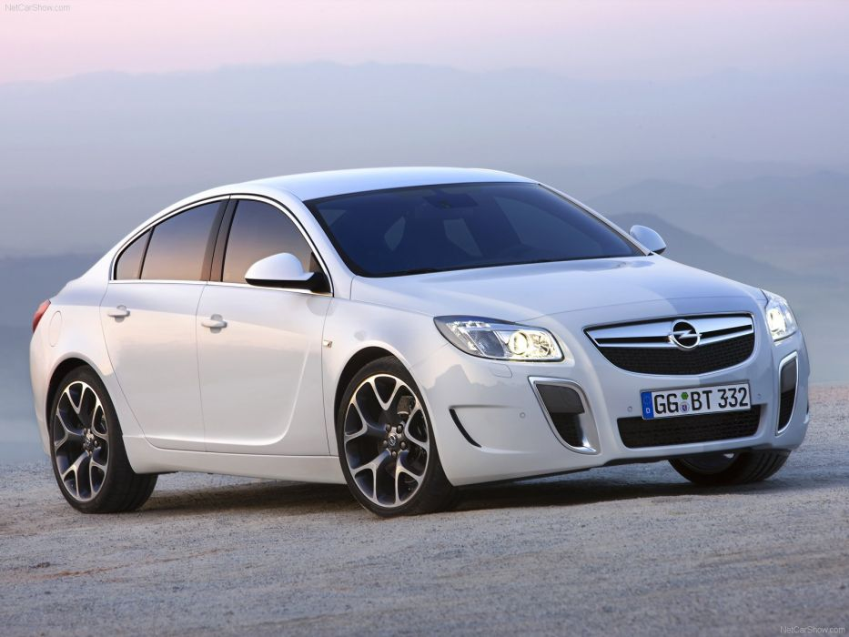 Opel Insignia OPC cars 2010 white wallpaper