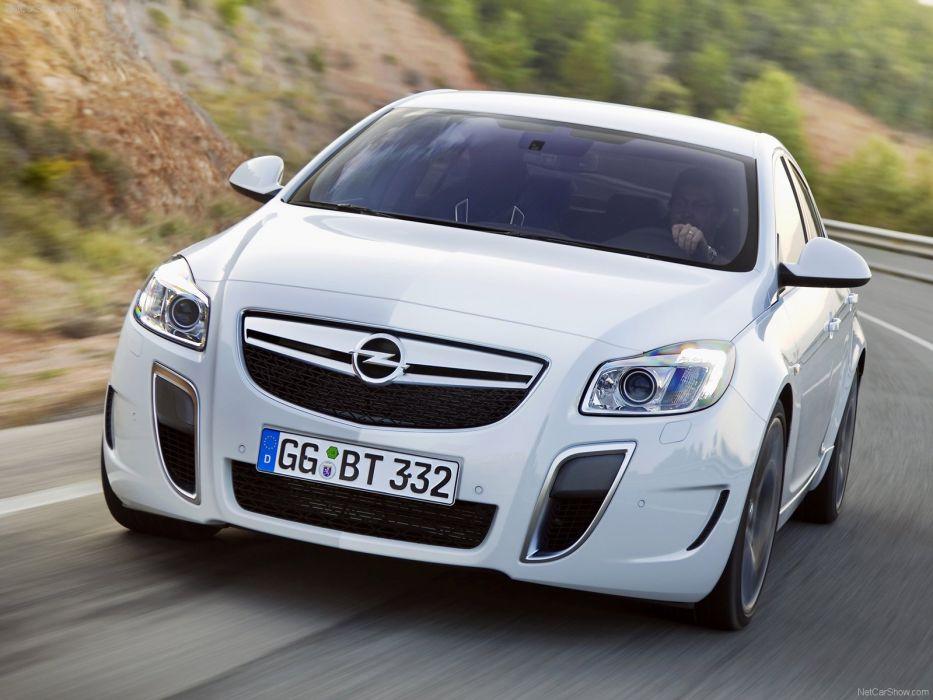 Opel Insignia OPC cars 2010 white wallpaper