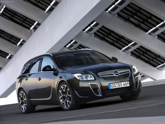 Opel Insignia OPC Sports Tourer cars 2010 black wallpaper