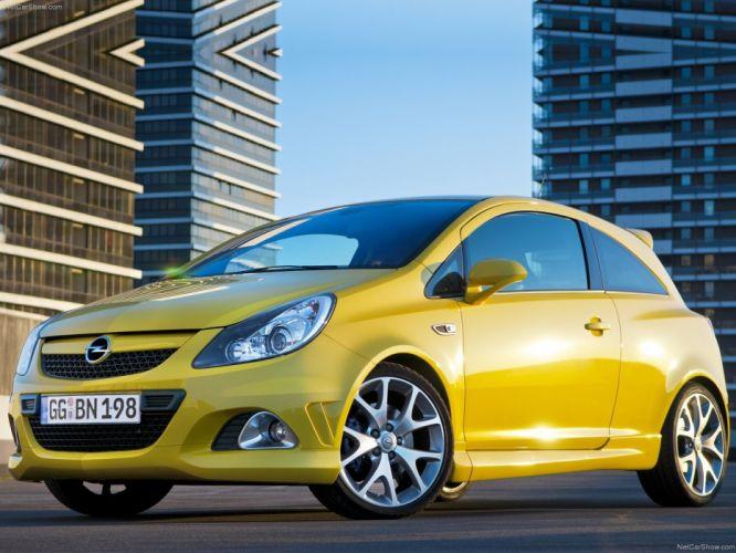 Opel Corsa OPC cars yellow 2010 wallpaper