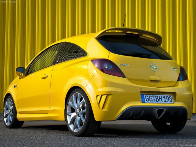 Opel Corsa OPC cars yellow 2010 wallpaper
