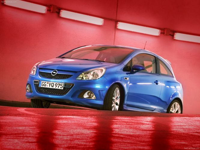 Opel Corsa OPC cars blue 2008 wallpaper