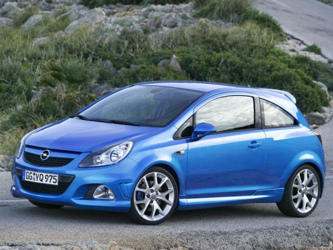 Opel Corsa OPC cars blue 2008 wallpaper