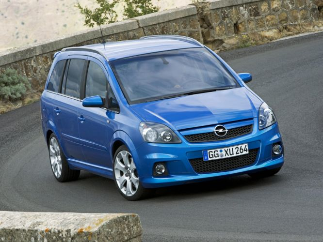 Opel Zafira OPC 2006 cars blue wallpaper