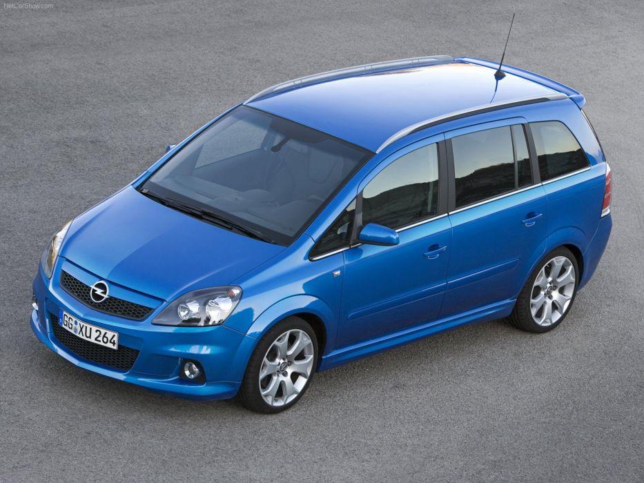 Opel Zafira OPC 2006 cars blue wallpaper