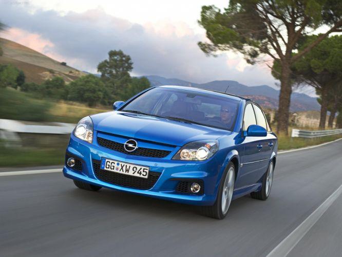 Opel Vectra OPC 2006 cars blue wallpaper
