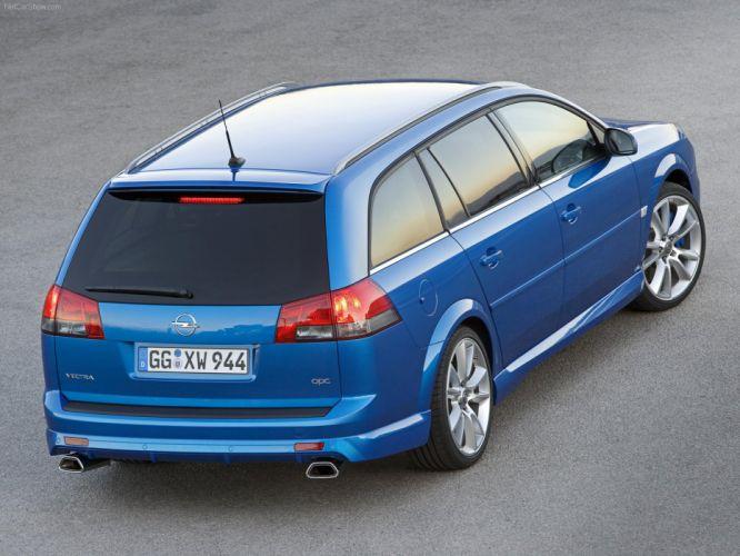 Opel Vectra Caravan OPC 2006 cars blue wallpaper