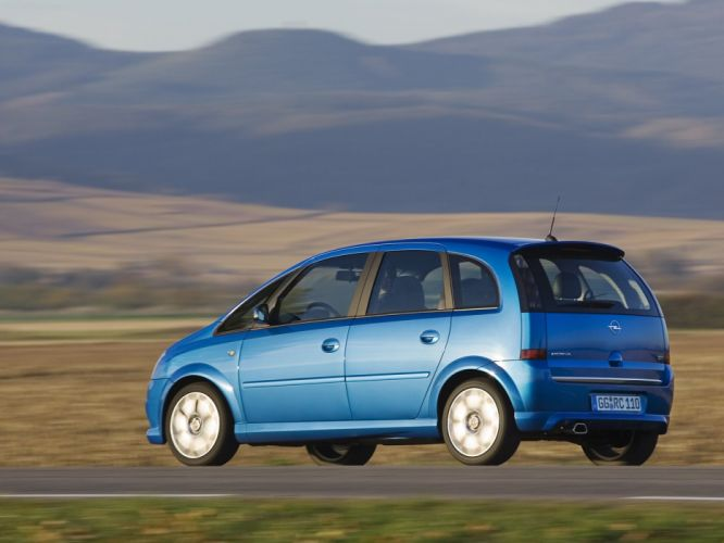 Opel meriva OPC 2006 cars blue wallpaper