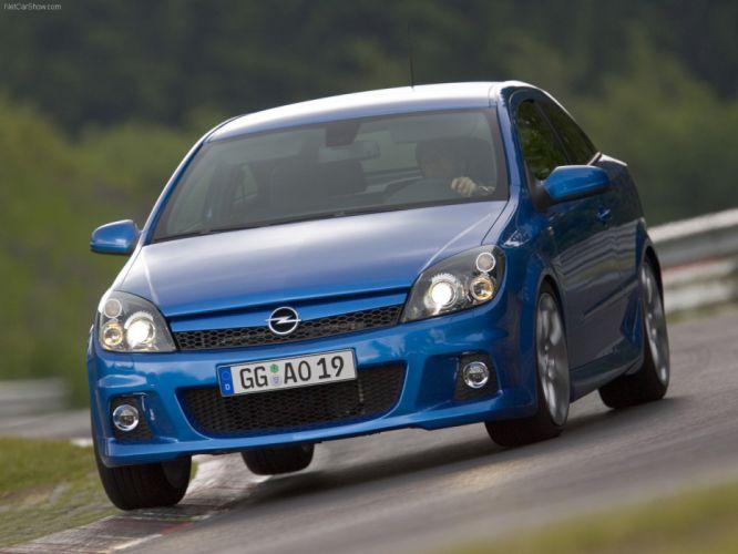 Opel astra OPC 2006 cars blue wallpaper