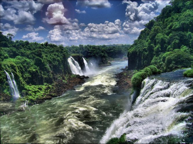 Cloud Sky Pantanal Brazil Waterfall Iguazu Falls river tropical jungle forest wallpaper