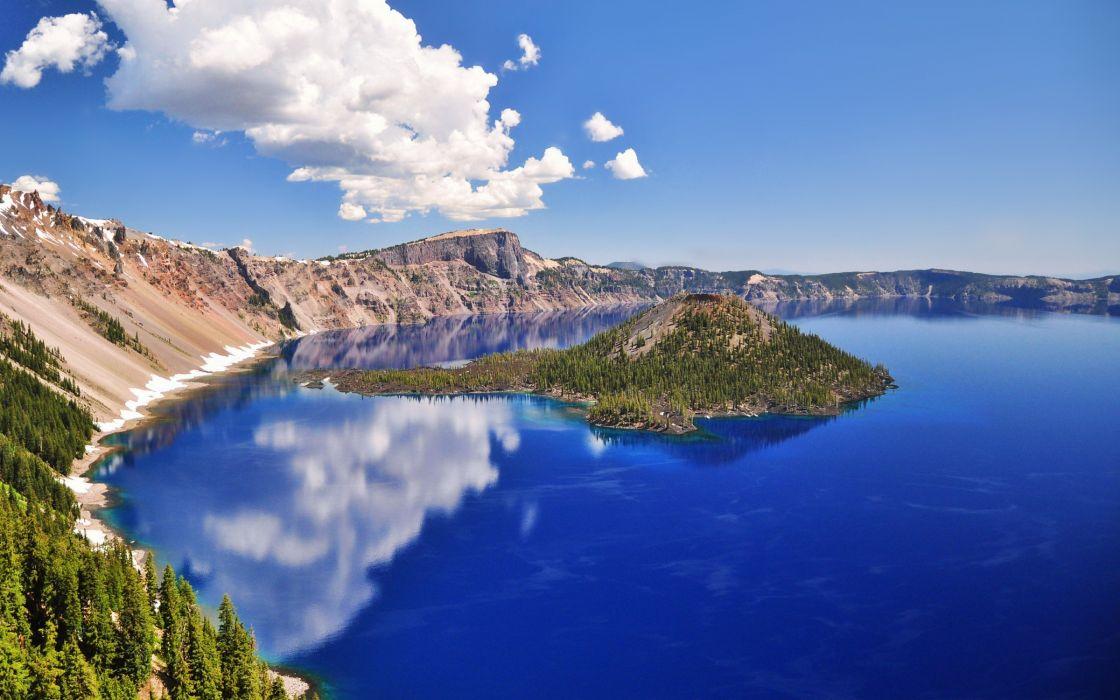 Lake Sunny Water Landscape Nature wallpaper
