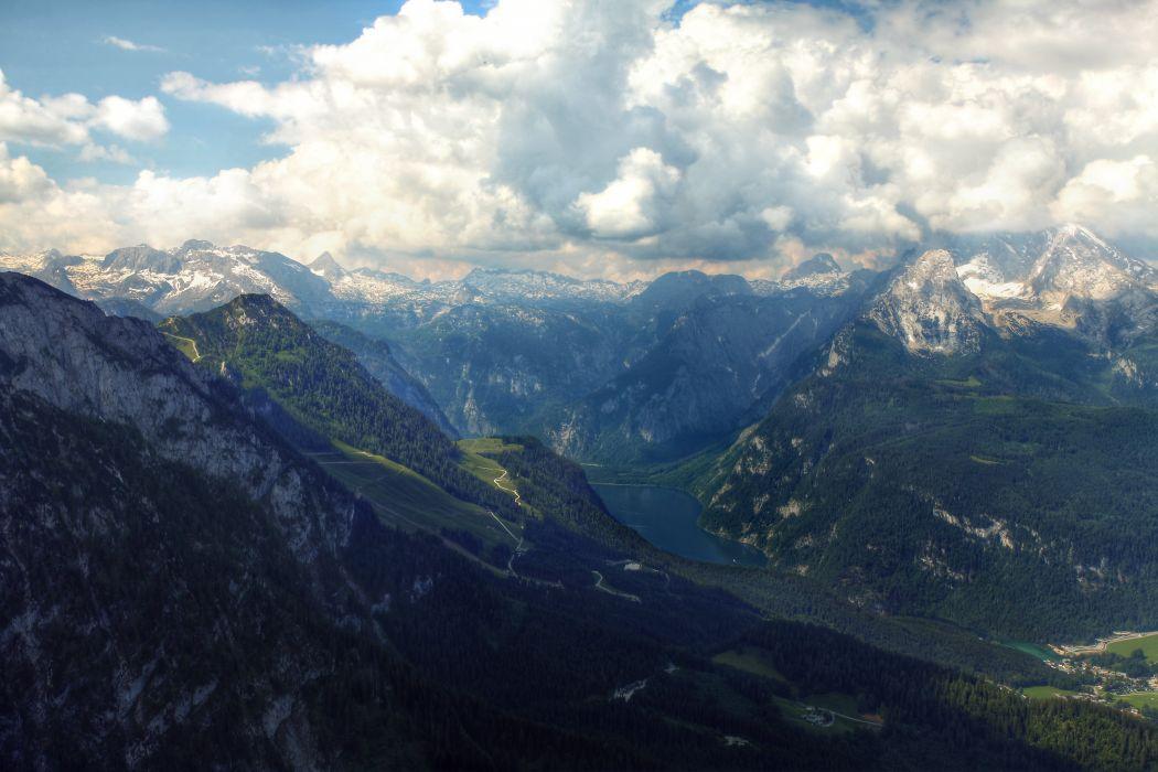 Landscape Cloud Mountain Alps Germany Bavaria KA wallpaper