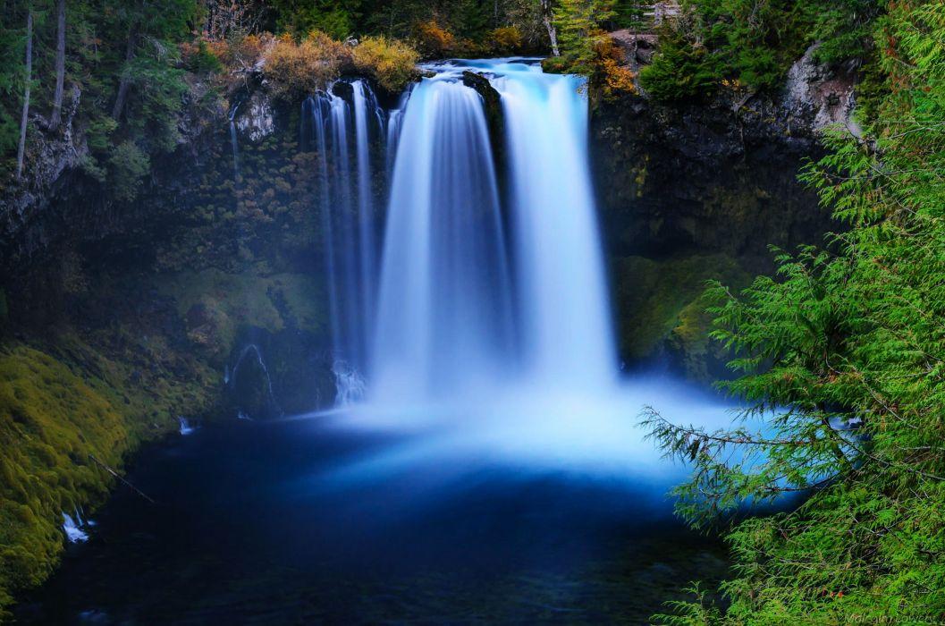 Landscape Waterfall Lake River Nature wallpaper