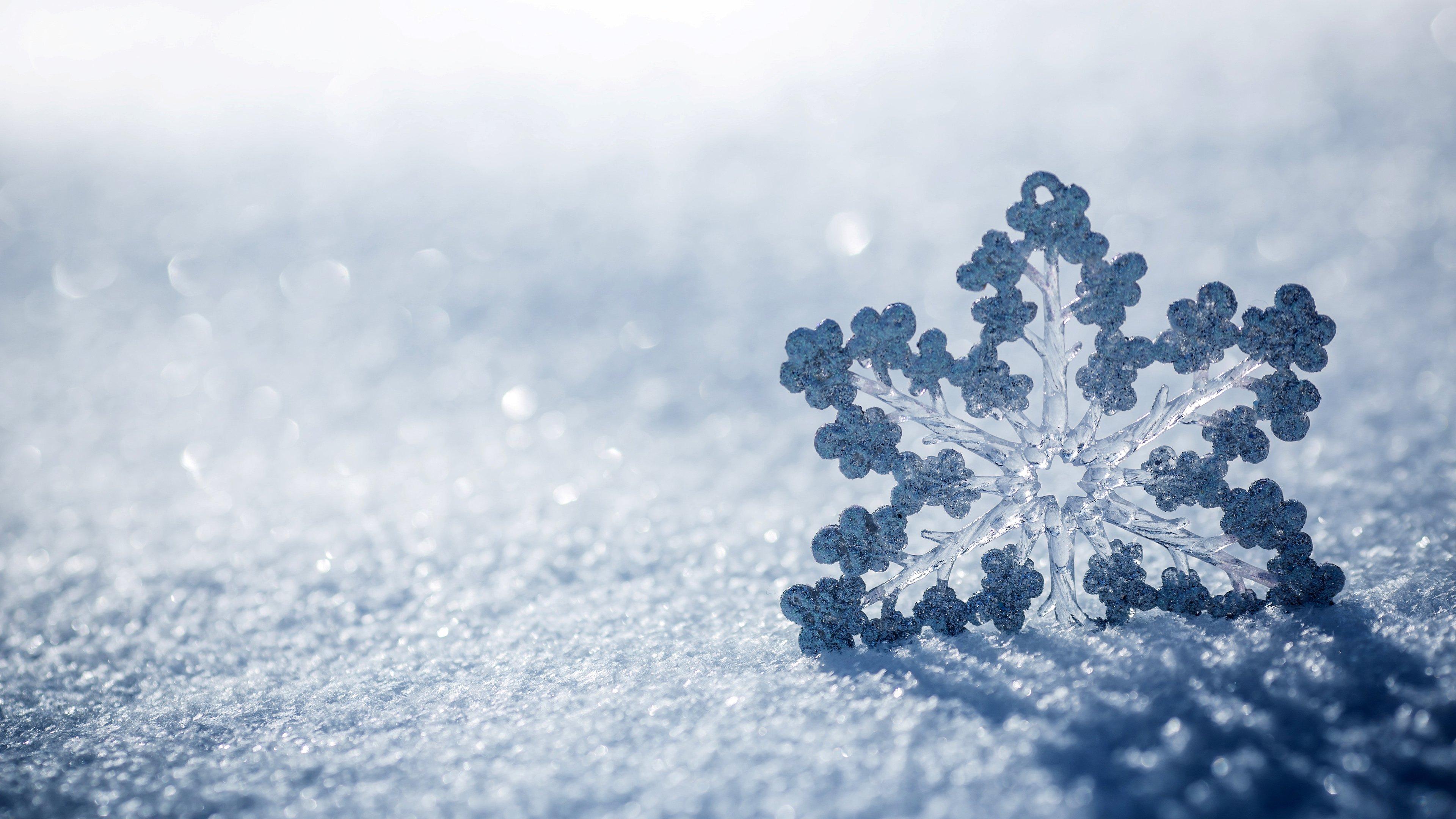 nature snow winter snowflake christmas bokeh wallpaper