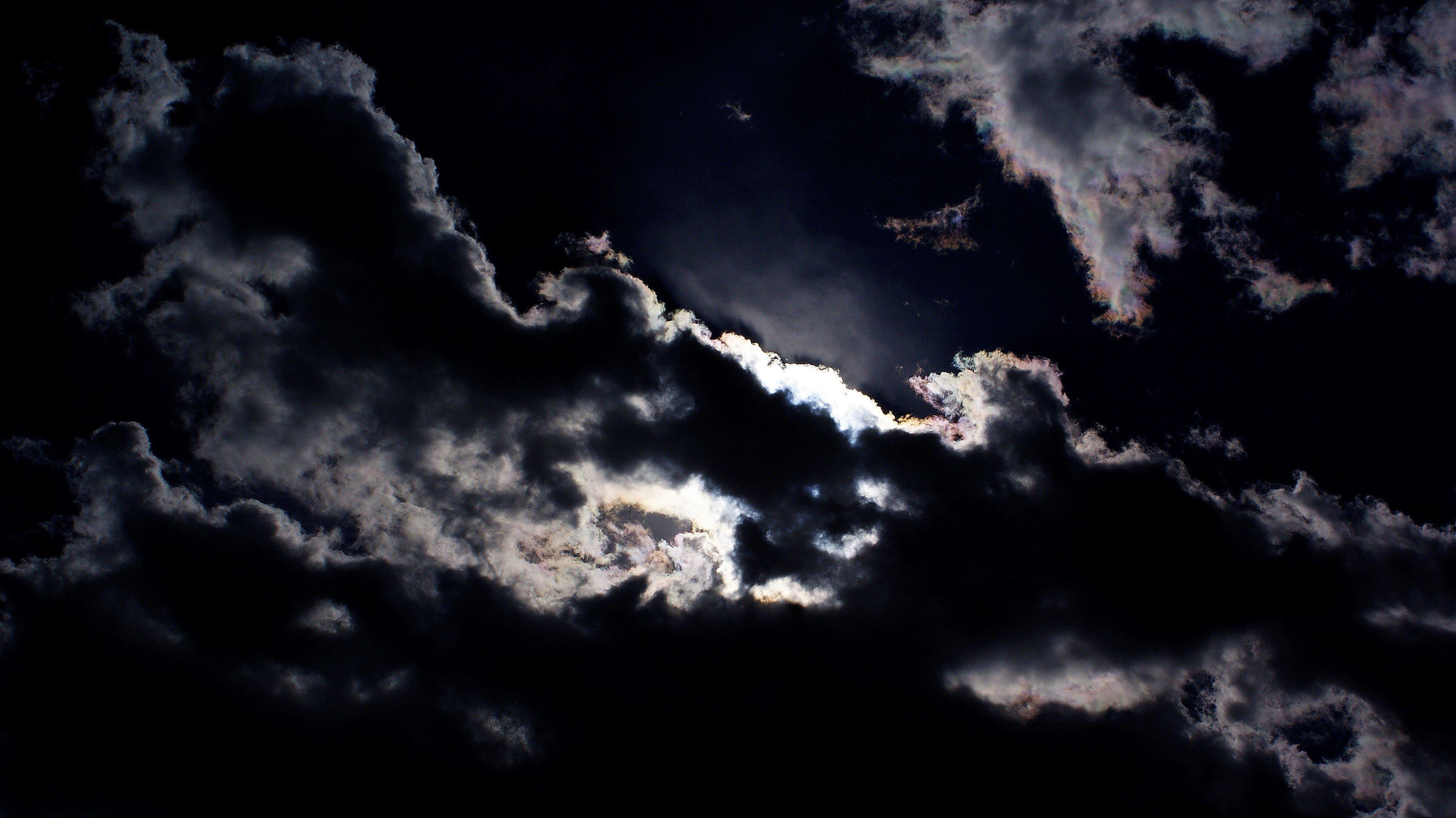 Sky Moonlight Dark Clouds moon night wallpaper | 3872x2176 ...