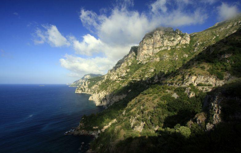 Sea Amalfii Italy Coastline Shore wallpaper