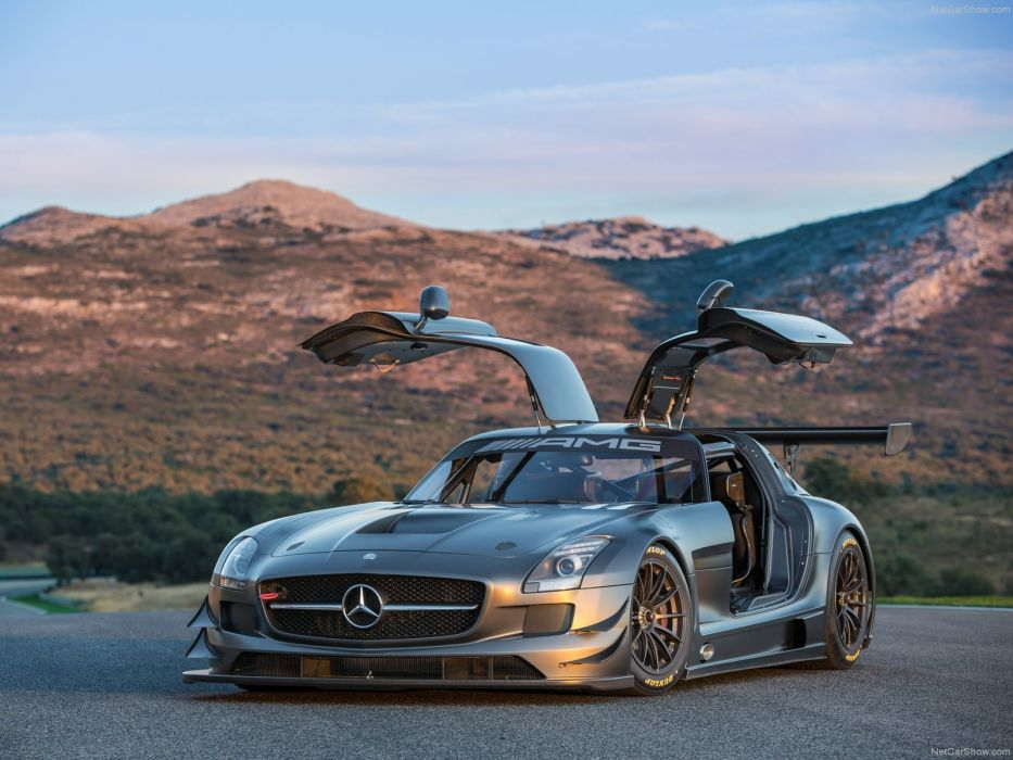 Mercedes SLS AMG GT3 45th Anniversary cars racecars 2013 wallpaper