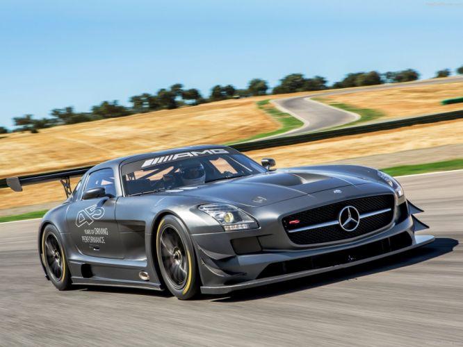 Mercedes SLS AMG GT3 45th Anniversary cars racecars 2013 wallpaper