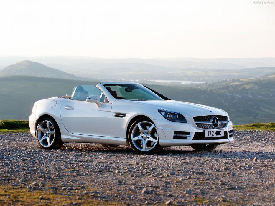 Mercedes Benz SLK 250 UK-Version 2012 white cars wallpaper