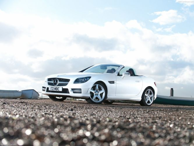 Mercedes Benz SLK 250 UK-Version 2012 white cars wallpaper