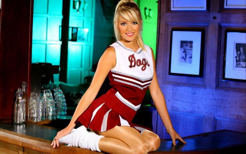 DANI WELLS adult actress sexy babe blonde 1dwells cheerleader wallpaper