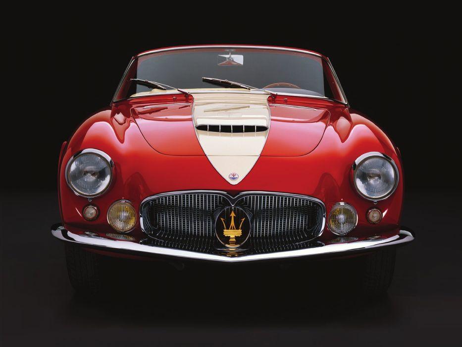 2000 Gran Sport Spyder Frua classic cars 1956 wallpaper