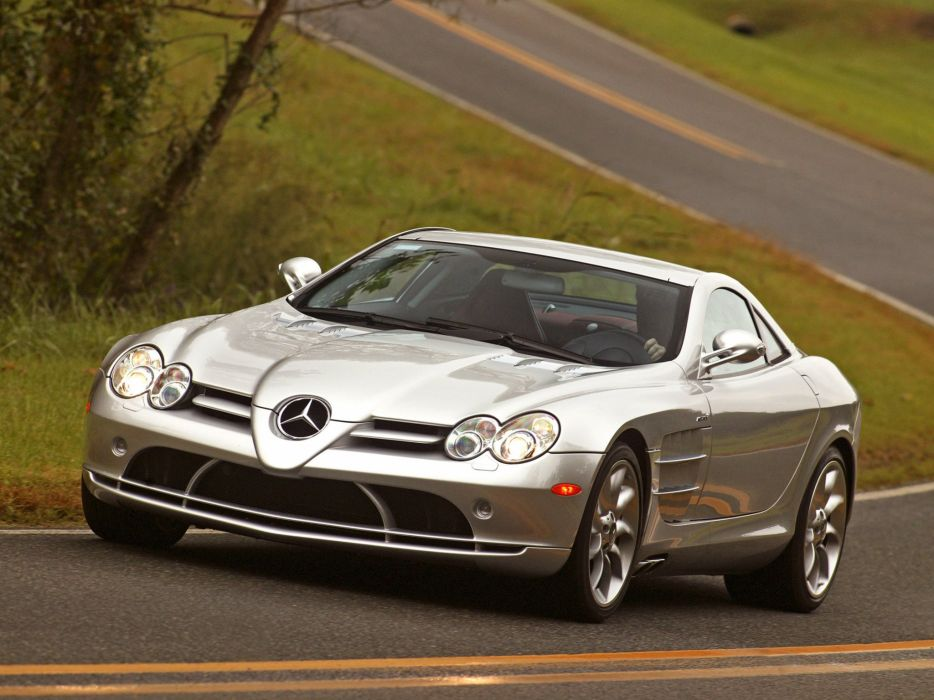 Mercedes Benz SLR McLaren US-spec cars supercars 2004 wallpaper