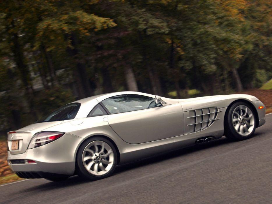 Mercedes Benz SLR McLaren US-spec cars supercars 2004 wallpaper