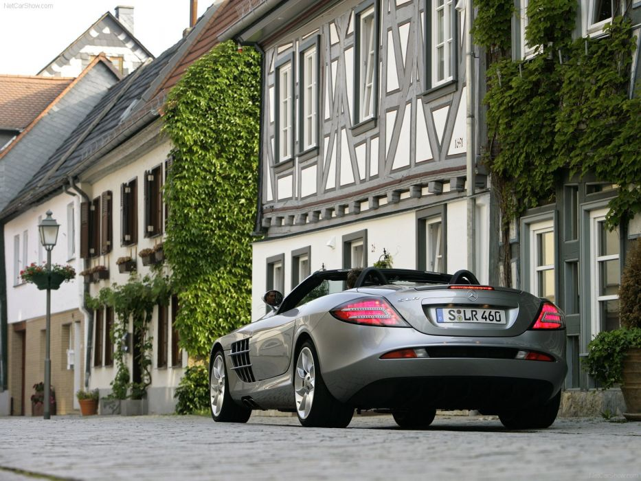 2008 benz McLaren Mercedes R199 roadster SLR Supercar wallpaper
