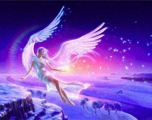 angel fantasia arte wallpaper