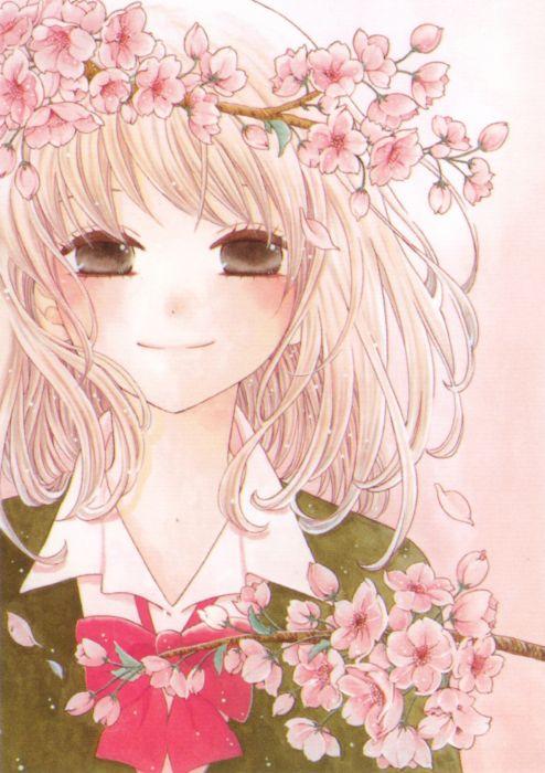 Hajimari no Niina Series Niina Aoyagi Character anime girl flower beautiful smile cute wallpaper