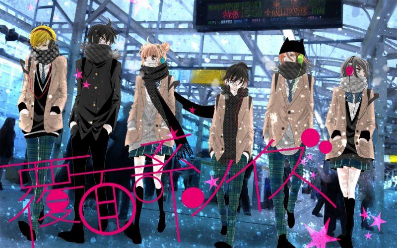 Fukumenkei Noise Series Nino Arisugawa Character Momo Sakaki Character Kanade Yuzuriha anime group wallpaper