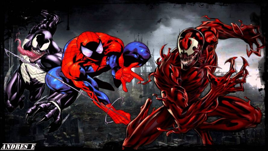 Spider-Man Venom Maximum Carnage scrolling fighting action superhero spider spiderman 1svmc d wallpaper