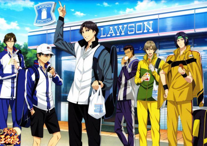 anime guys group Prince of Tennis Series Ryoma Echizen Character Kunimitsu Tezuka Character Eishirou Kite wallpaper