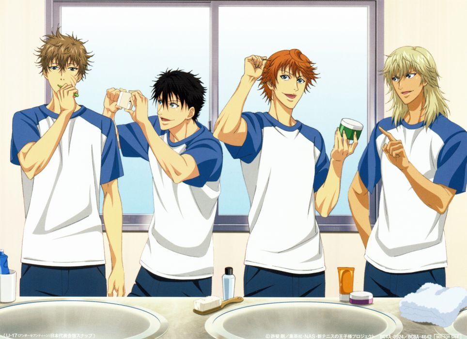 anime boys sport group Prince of Tennis Series Kiyosumi Sengoku Character Liliadent Krauser wallpaper