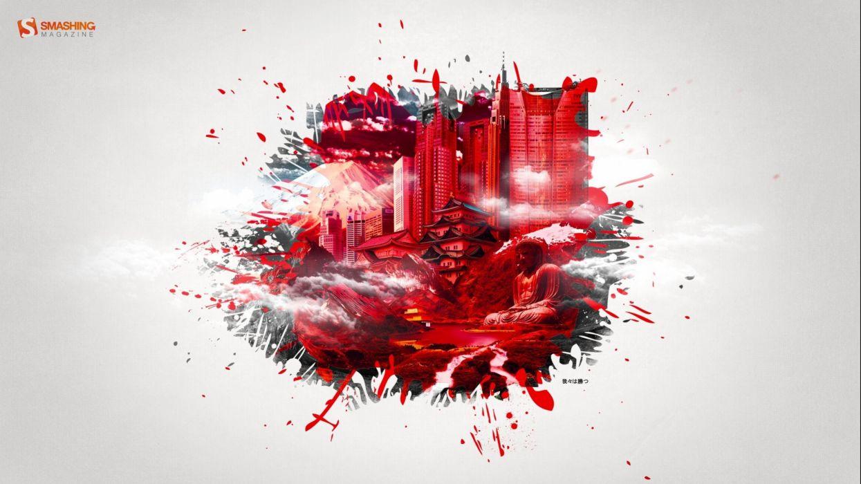 art artwork artistic city cities fantasy architecture building original wallpaper
