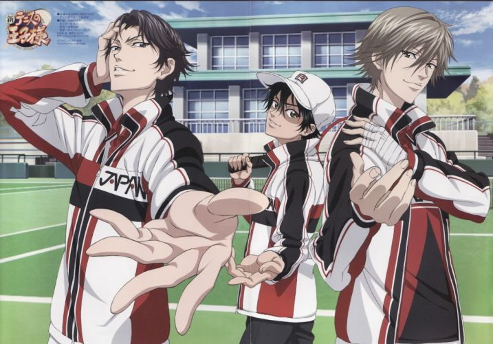 anime sports boys group Prince of Tennis Series Kuranosuke Shiraishi Character Keigo Atobe wallpaper